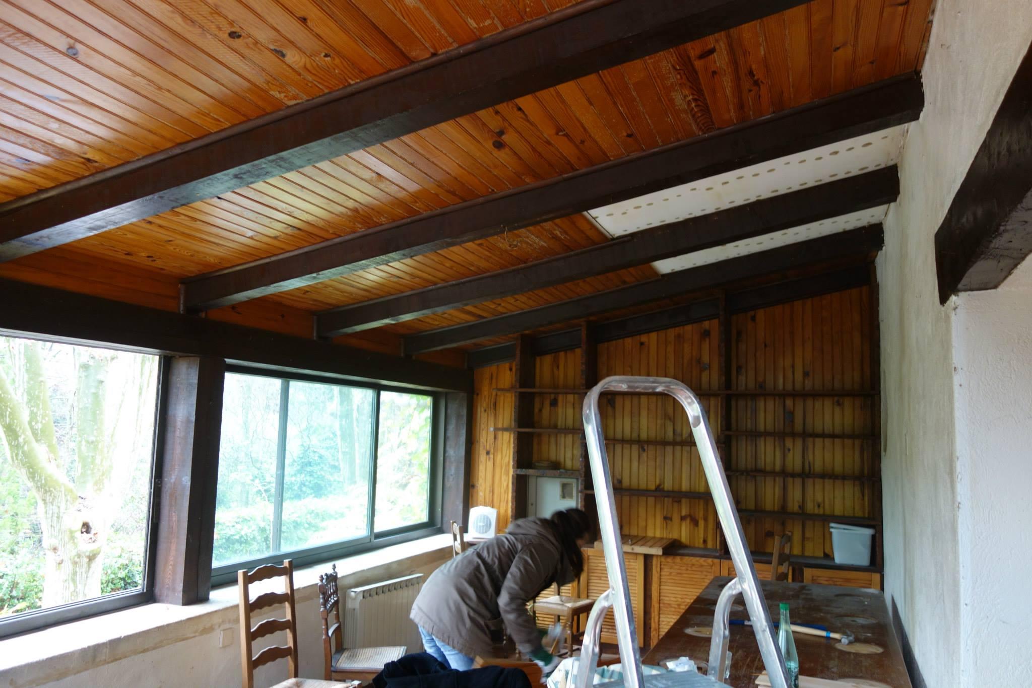 avant apres renovation vert de gris deco